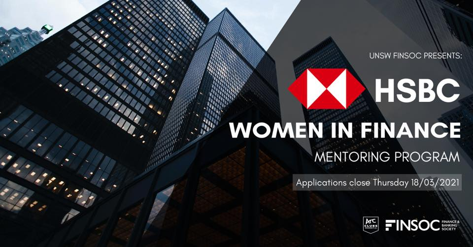 UNSW FINSOC Presents: HSBC Women in Finance Mentoring Program