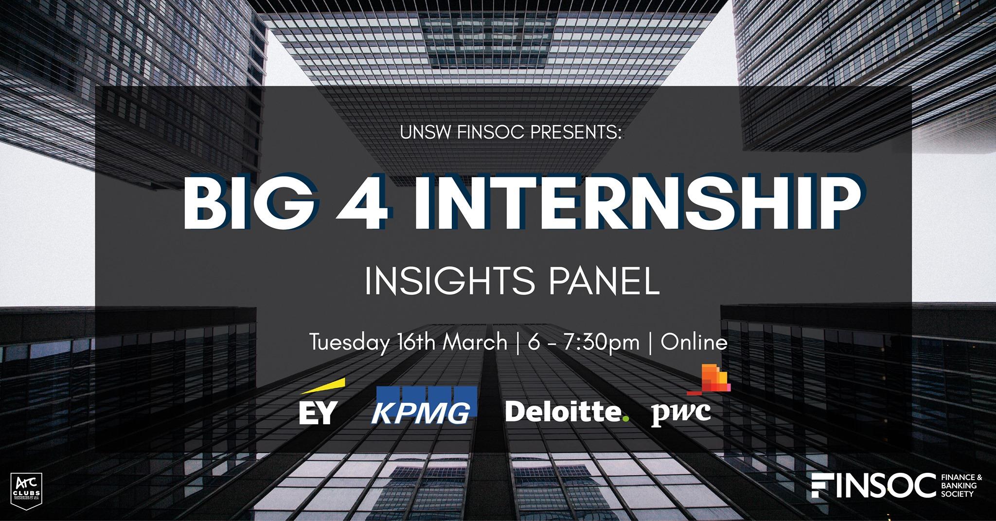 UNSW Finsoc Presents: Big 4 Internship Insights Panel