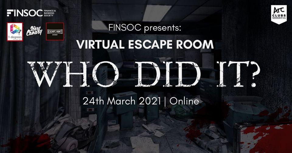 UNSW Finsoc Presents: Virtual Escape Room – WHO DID IT?