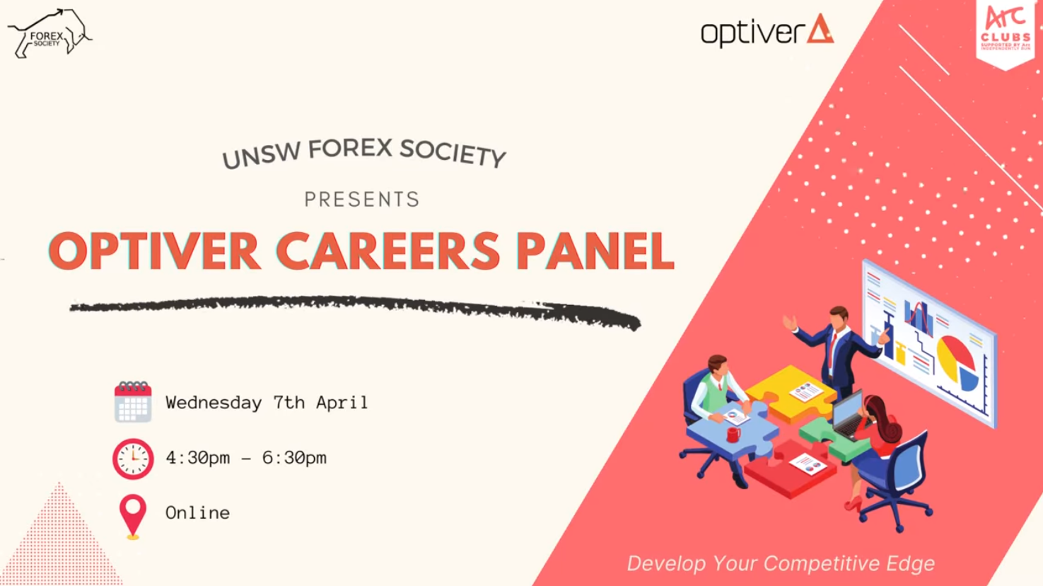 UNSW Forex Society x FINSOC Present: Optiver Careers Panel