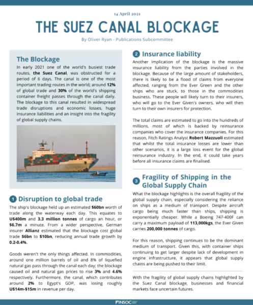 The Suez Canal Blockageimage preview for post